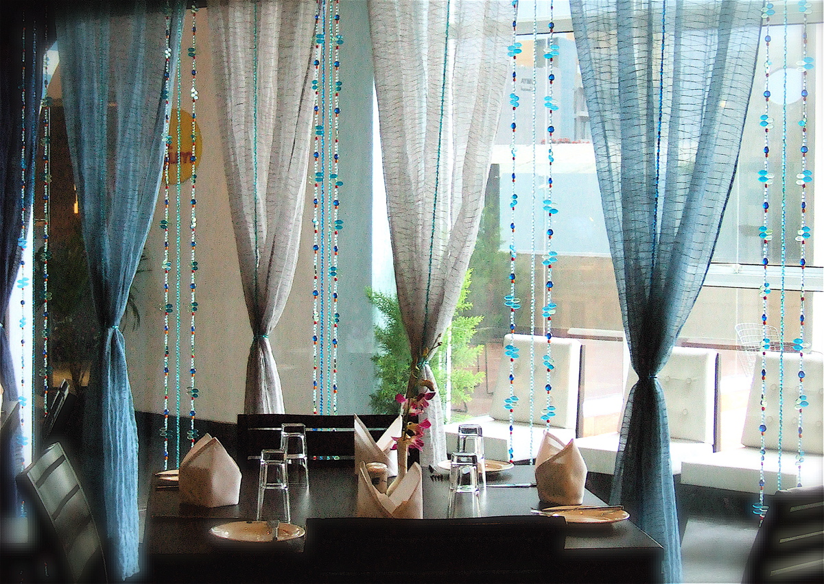 Teal curtain beads - Beaded Window Curtains Bead Curtains More Images