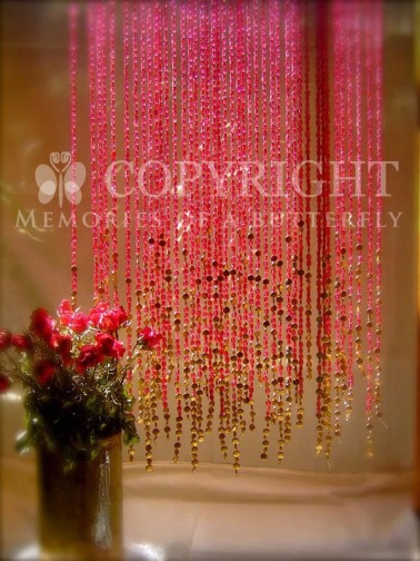 Bead curtain Pomegranate Gold